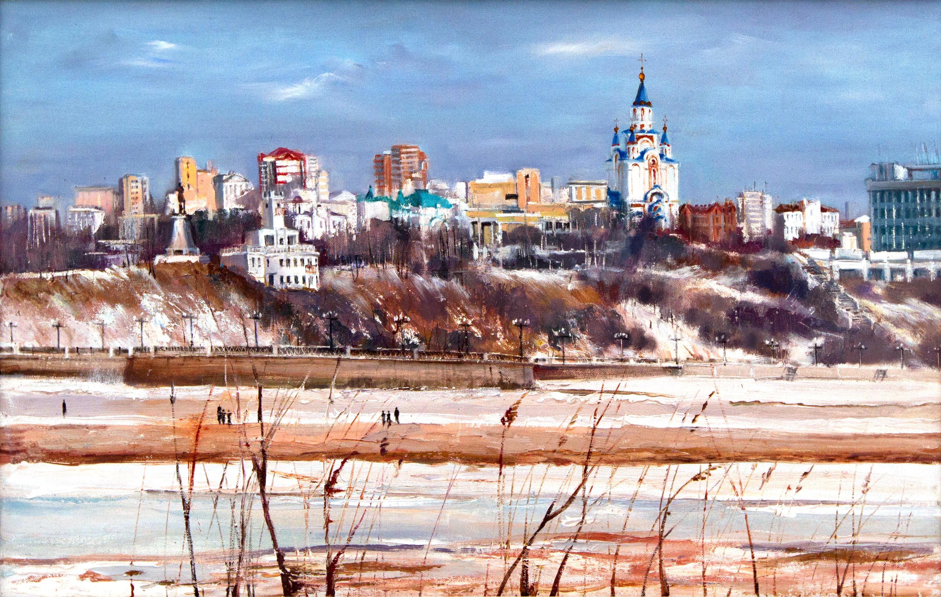 Вид на Хабаровск с  Амура - 50 х 100