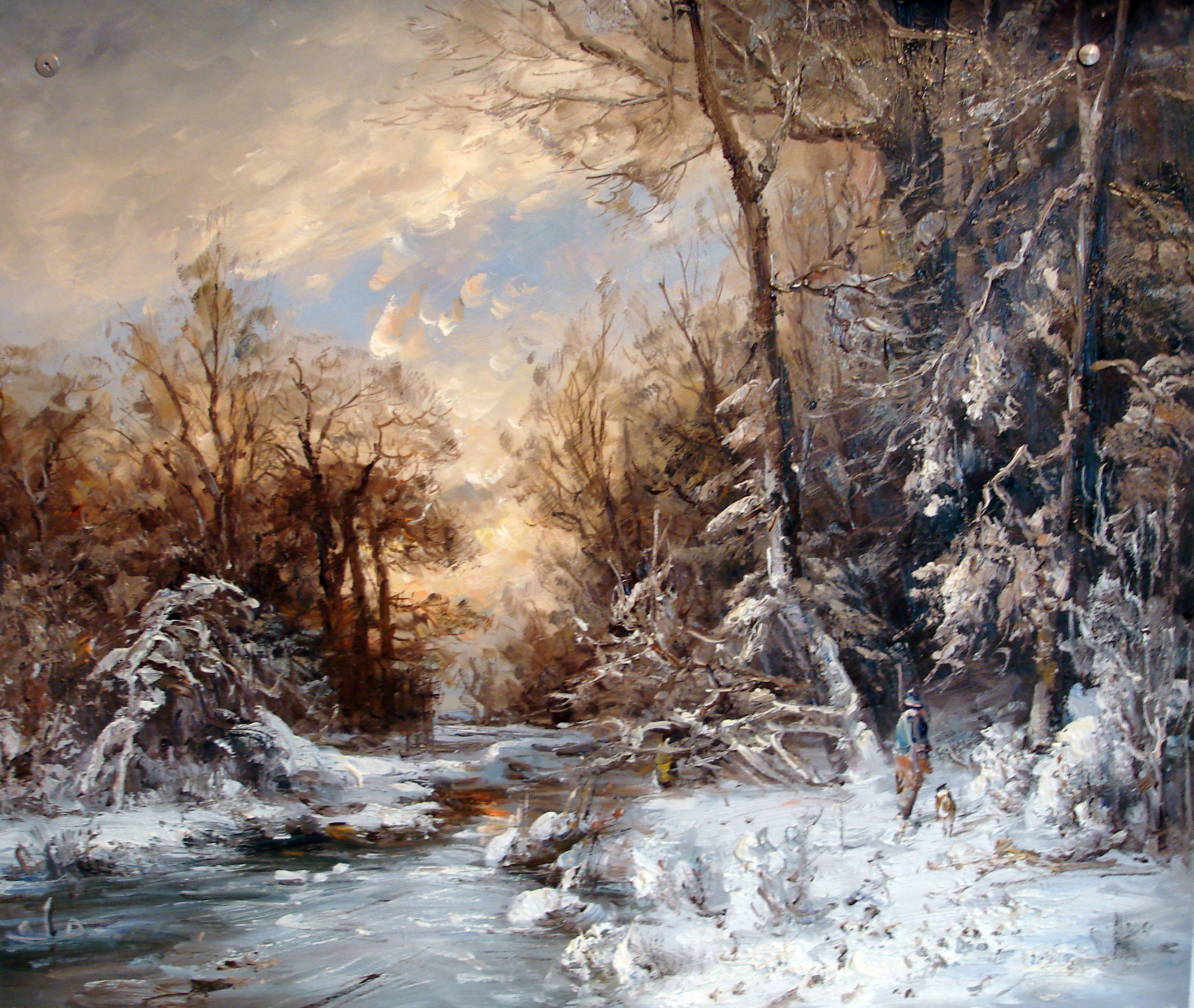 Зима . Охота 50 х 60 - 10 000 ₽