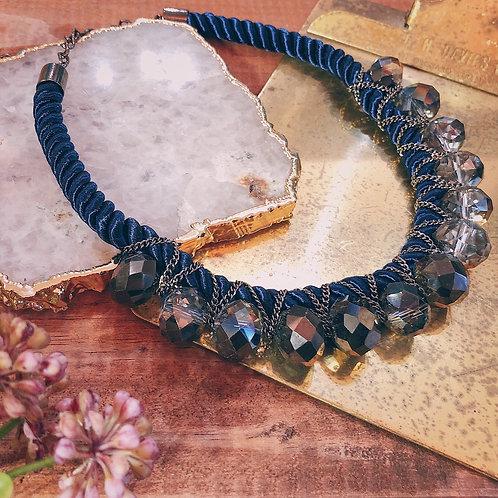 Navy Stone Necklace