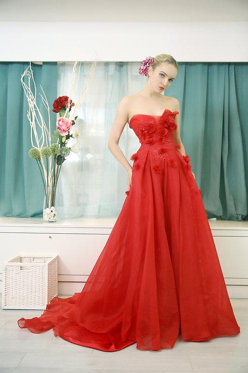 Little Flower Red Dress