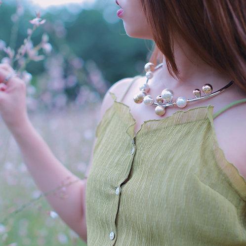 Silver Loop link necklace