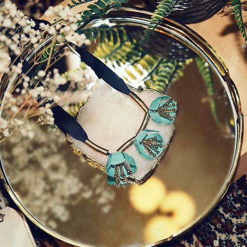 Flower embellished necklace
