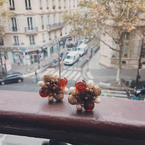 [Paris] Vintage Star Gold Earrings