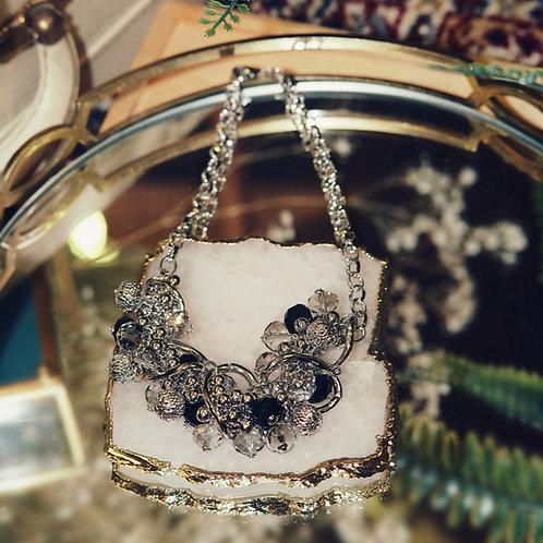 SIlver Embellished Necklace