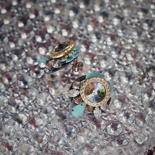[s.siren] Stone Earrings
