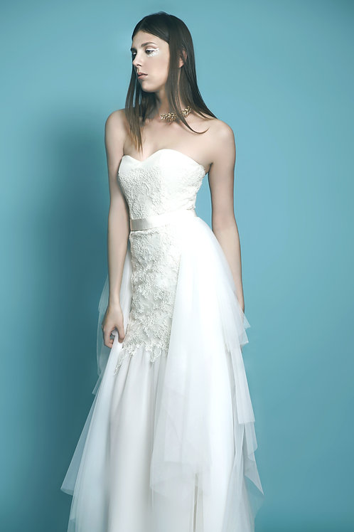 White Layer Wedding Dress