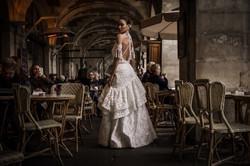 PARIS RUNWAY BOHO WEDDING DRESS