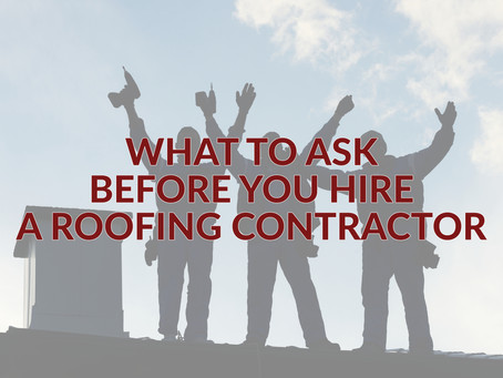10 questions that you need to ask before you even THINK about hiring a roofing contractor.