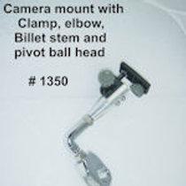 Chrome Camera Mount w/ 1/4-20 Threaded Base