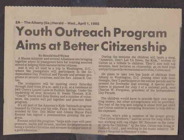 YOUTH OUTREACH PROGRAM (Copy)