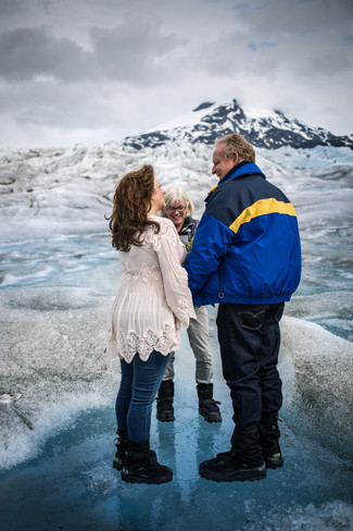Tracy and Mark/ Meade Glacier