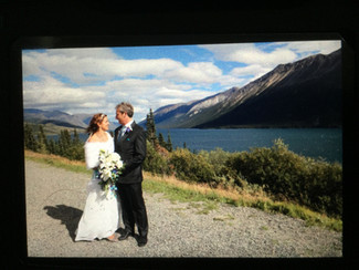 Connie and Michael; Celebrating in the Yukon