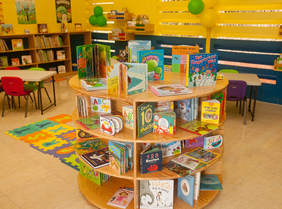 Section of Reading Owls Library, Charlton Infant, northern Jamaica