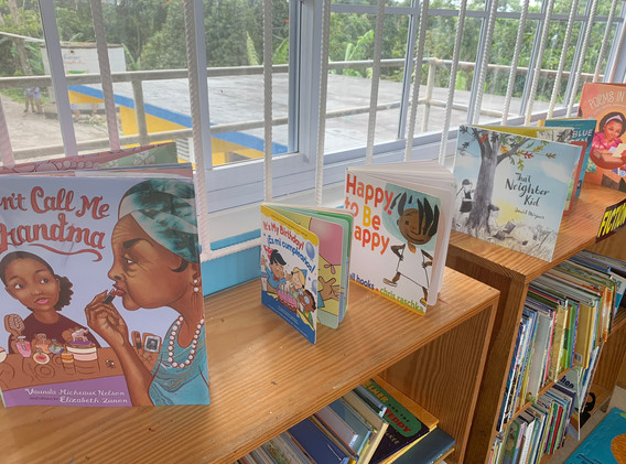 Section of Reading Owls library at Carron Hall Primary, eastern Jamaica