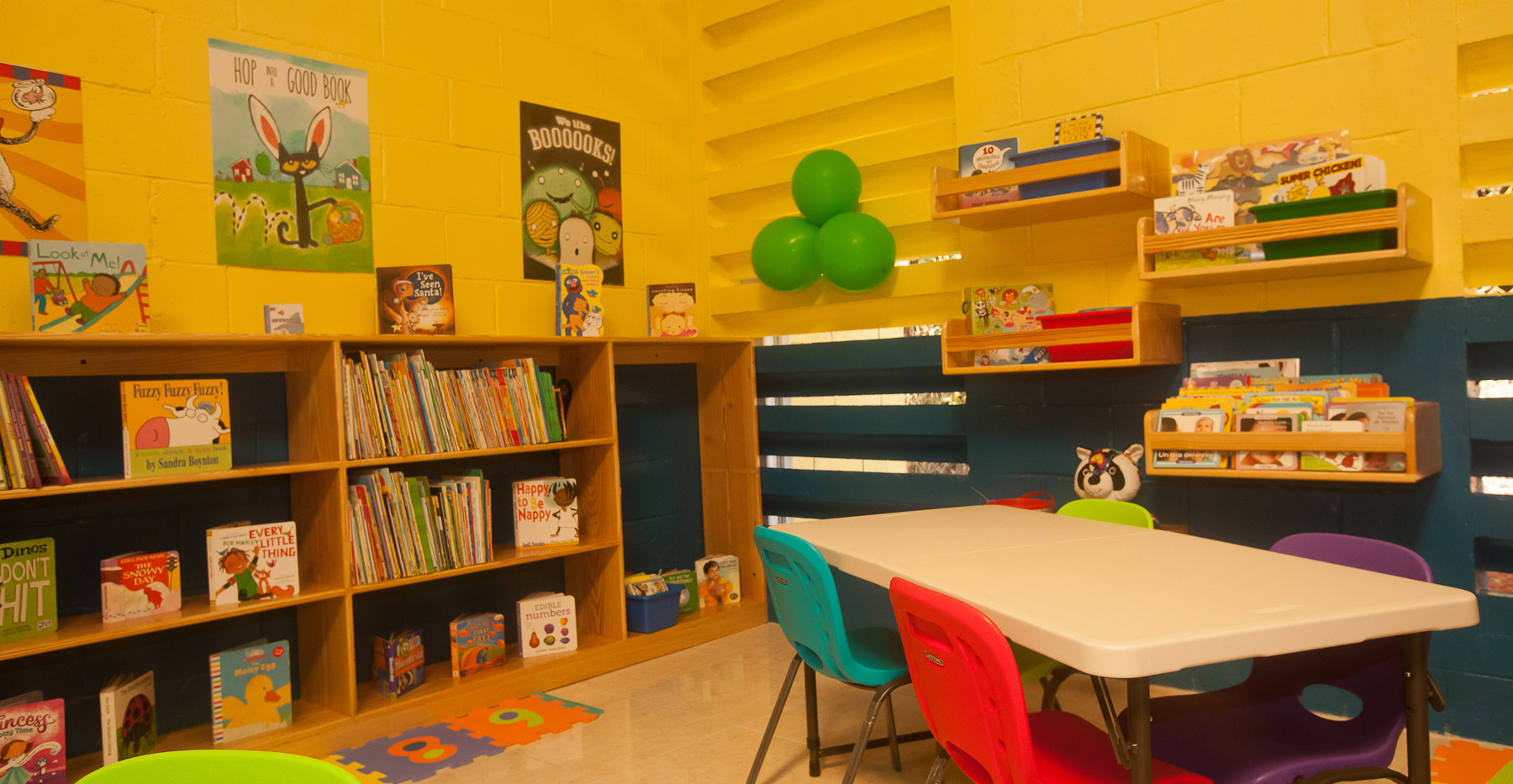 Section of Reading Owls Library at Charlton Infant