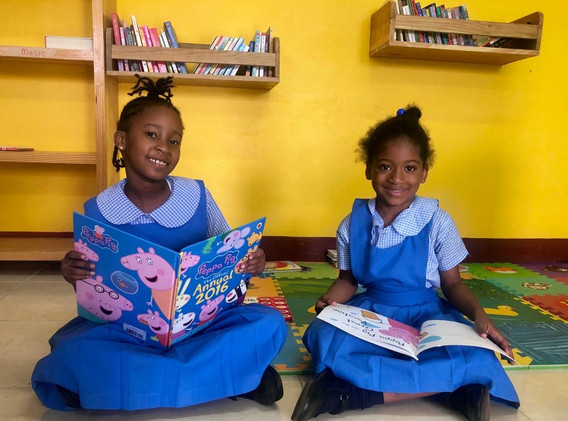 Grade 1 students at Aboukir Primary, northern Jamaica