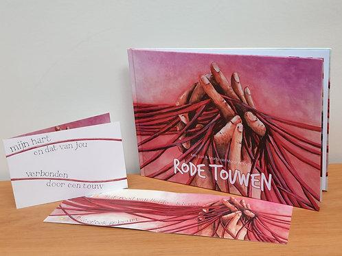 Prentenboek Rode touwen samen met postkaart 'Mijn hart en dat van jou'