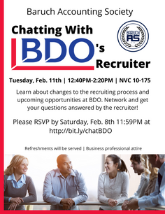 Chatting with BDO's Recruiter