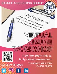 Virtual Resume Workshop