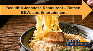 **REDUCED** Amazing Opportunity! Beautiful Japanese Ramen Restaurant with tons of upside. Amazing location! Amazing Lease terms! Gorgeous Build out!...