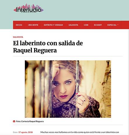 Raquel Reguera. Revista Interludio