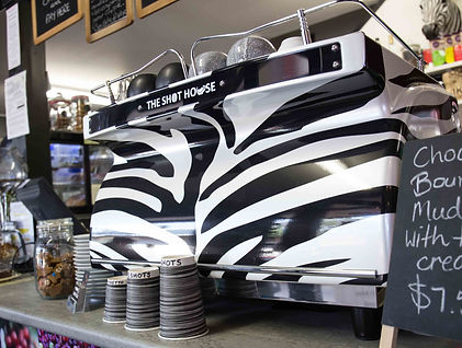 The Shot House Yarragon Zebra Coffee Machine