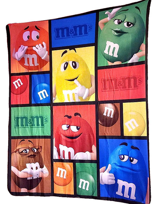 M&M Collectible Poly-Fleece Blanket