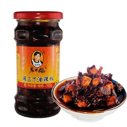 老干妈-辣三丁油辣椒 LGM Kohirabi, Peanuts and Tofu Chilli Oil
