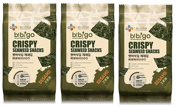 3 聯包紫即食菜小吃( 芝麻味) Seaweed Snack -Sesame