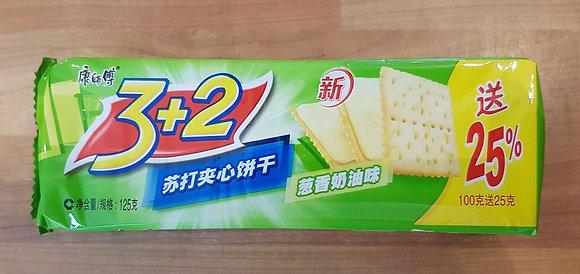 3+2苏打夹心饼干 -葱香奶油 Sandwich Biscuits Chives