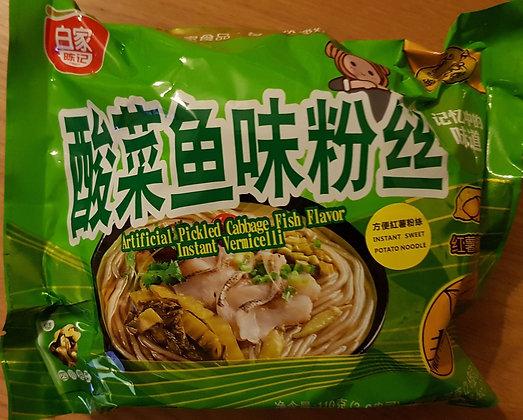 白家酸菜鱼味粉丝 Pickled Cabbage Fish Flavor