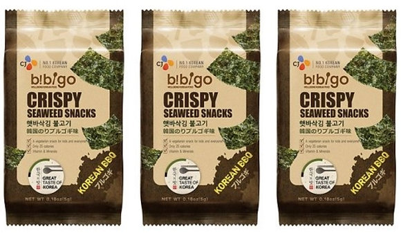 3 聯包紫即食菜小吃( 韩国烧烤味) Seaweed Snack - Korean BBQ