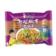 康师傅 老坛酸菜牛肉面 Mr Kon Beef & Sauerkraut Noodle