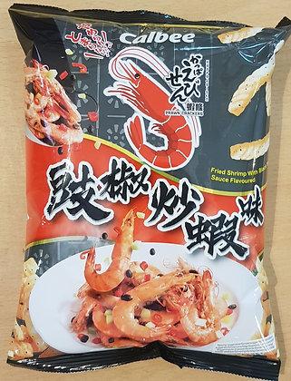豉椒炒虾味虾条 Black bean flavor shrimp cracker