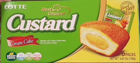乐天卡仕达派 Lotte Custard Cream Cake
