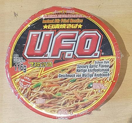 日清飞碟炒面-四川蒜蓉味 UFO Sichuan Style Garlic