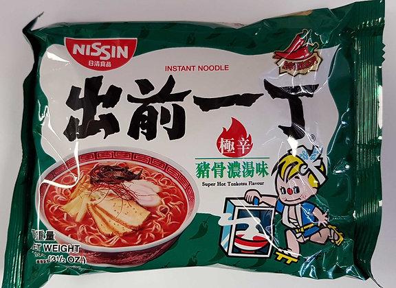 出前一丁極辛猪骨浓汤味 Nissin Super Hot Tonkotsu Flavor