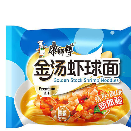 康师傅金汤蝦球面  Golden Stock Shrimp Noodle