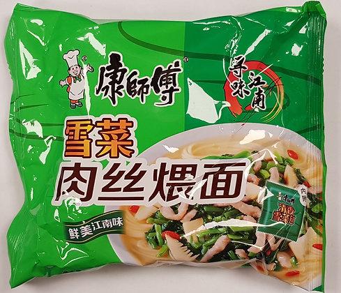 康师傅雪菜肉丝面 Pork and Pickled Veg.