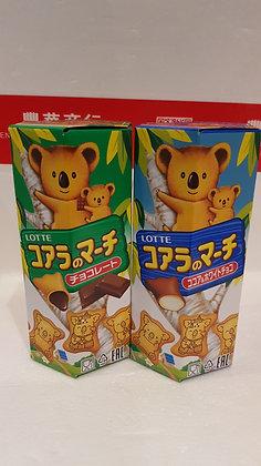 乐天小熊饼 巧克力/白巧克力味 Koala's March Chocolate & White Chocolate