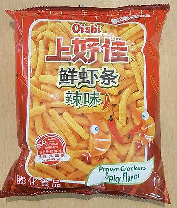 上好佳 鲜虾条(辣) Spicy Prawn Crackers