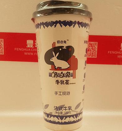 奶白兔法式牛乳茶 Red Bean Milk Tea