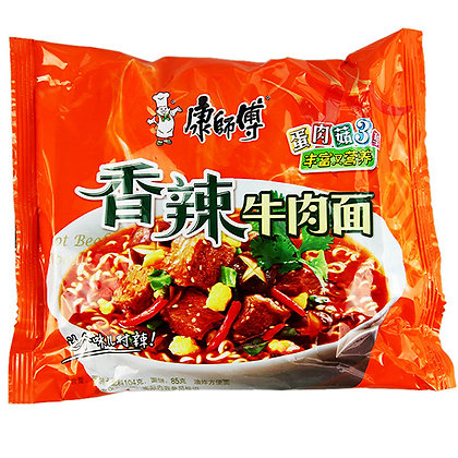 康师傅 香辣牛肉麵 Mr Kong Hot Beef Noodle Noodles