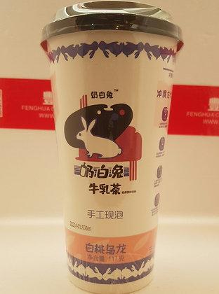 奶白兔白桃乌龙茶 Peach Oolong Milk Tea