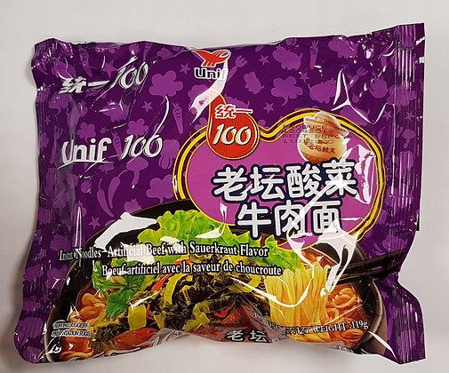 统一老坛酸菜牛肉面 Unif Beef with Sauerkraut