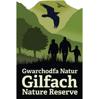 GILFACH NATURE RESERVE  This signage and exhibition project also required us to develop this strong identity for the nature reserve within the overall Wildlife Trusts brand.
