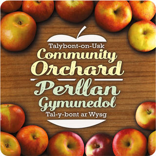 TALYBONT-ON-USK COMMUNITY ORCHARD  A fun brand for a local community project.