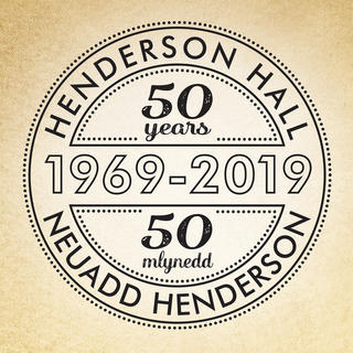 HENDERSON HALL ANNIVERSARY LOGO  Branding developed as part of an exhibition for a local community hall.