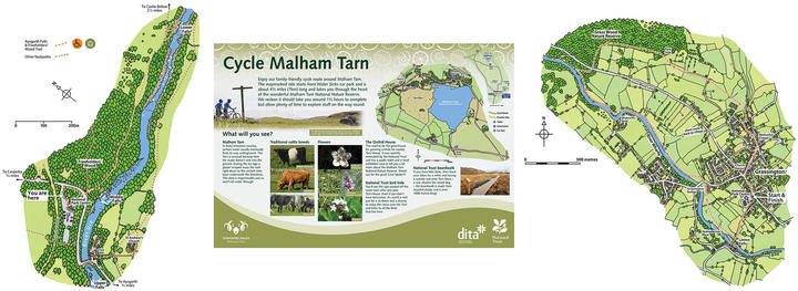 YORKSHIRE DALES NATIONAL PARK   Maps are a feature of many interpretation signs we've produced for the Yorkshire Dales National Park.