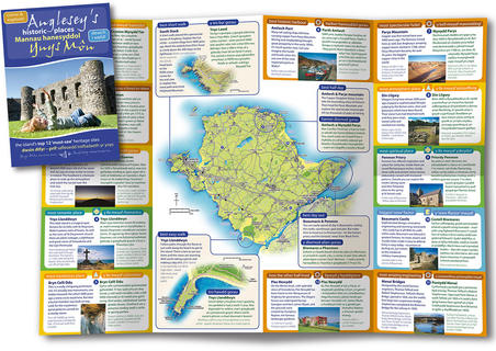 ANGLESEY HERITAGE TRAILS  This suite of leaflets featured a number of maps, including a large plan of the island and smaller maps to guide visitors to some of the harder to reach destinations.